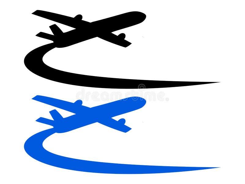 Diseño del símbolo del aeroplano stock de ilustración