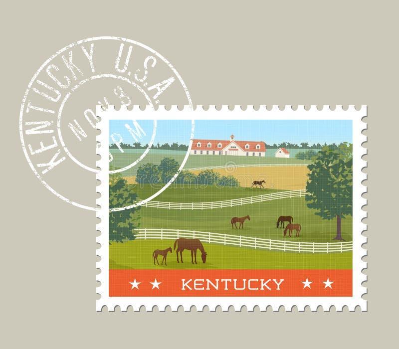 Diseño del sello de Kentucky Ilustración del vector ilustración del vector