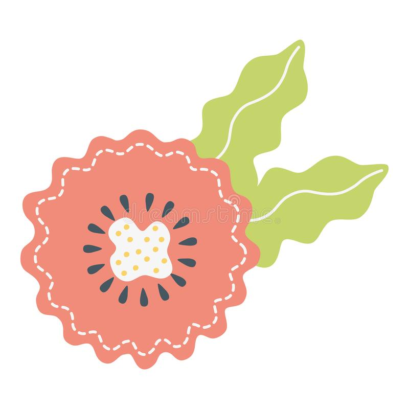 Dise?o del sello de la flor stock de ilustración