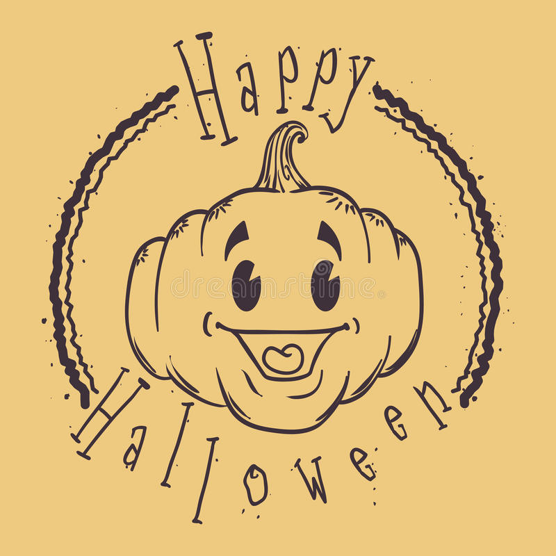 Diseño del sello del feliz Halloween libre illustration