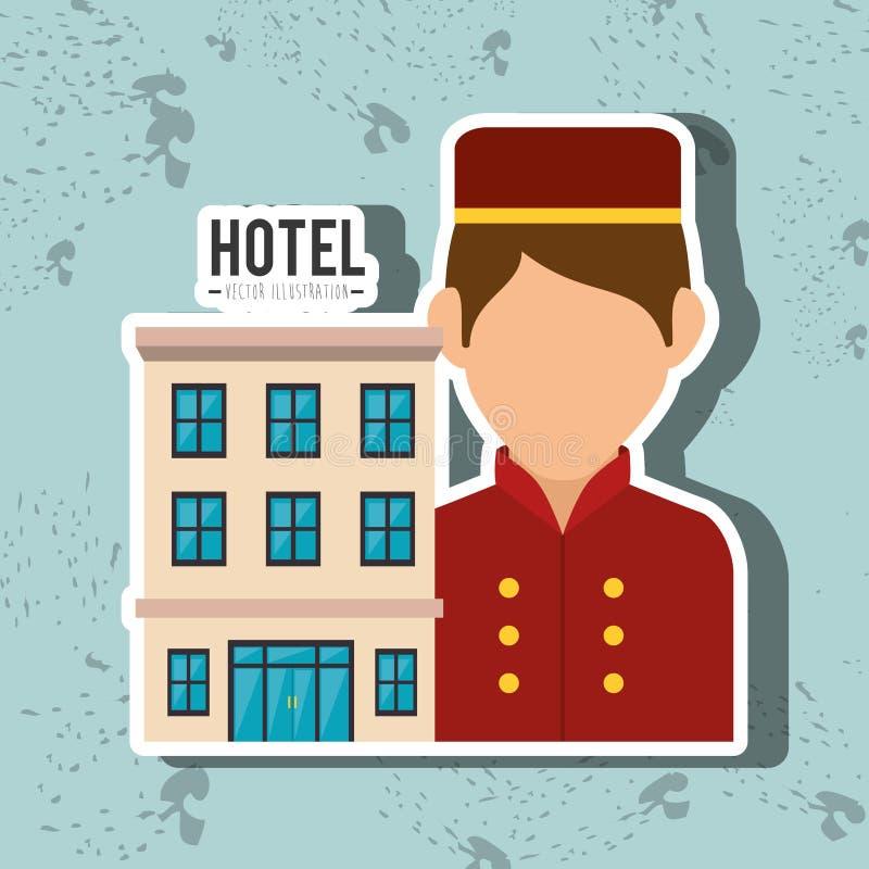 Diseño del servicio de hotel ilustración del vector