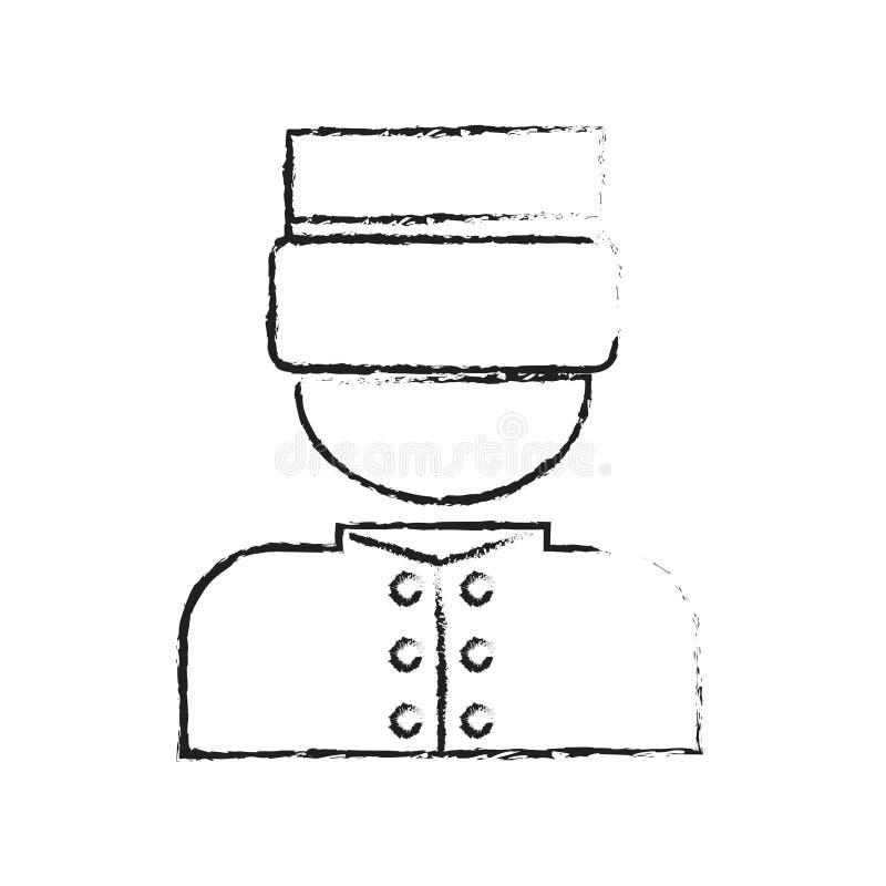 Diseño del servicio de hotel stock de ilustración