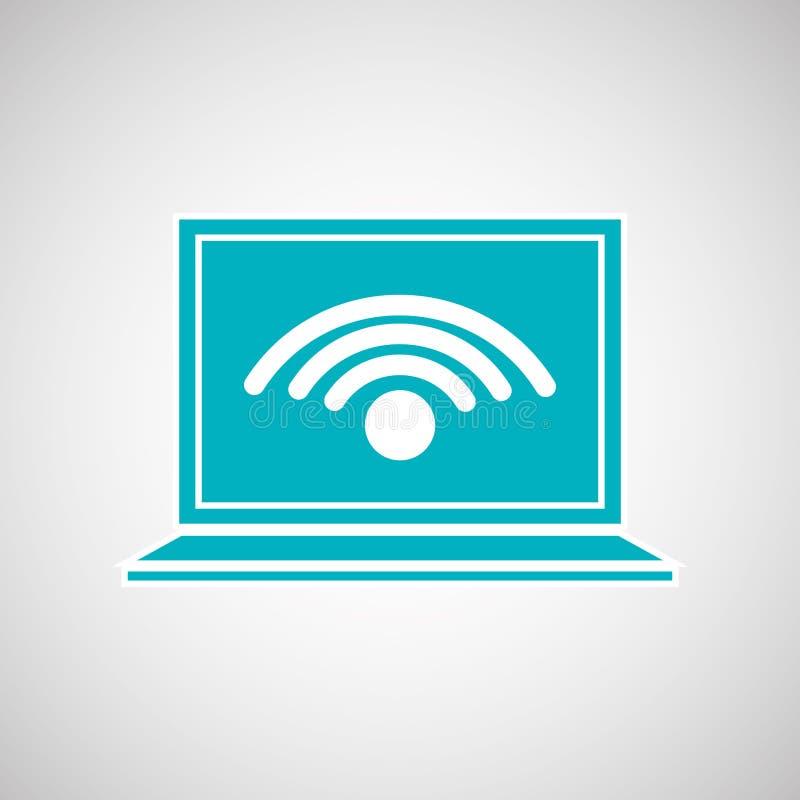 Diseño del servicio de Wifi stock de ilustración