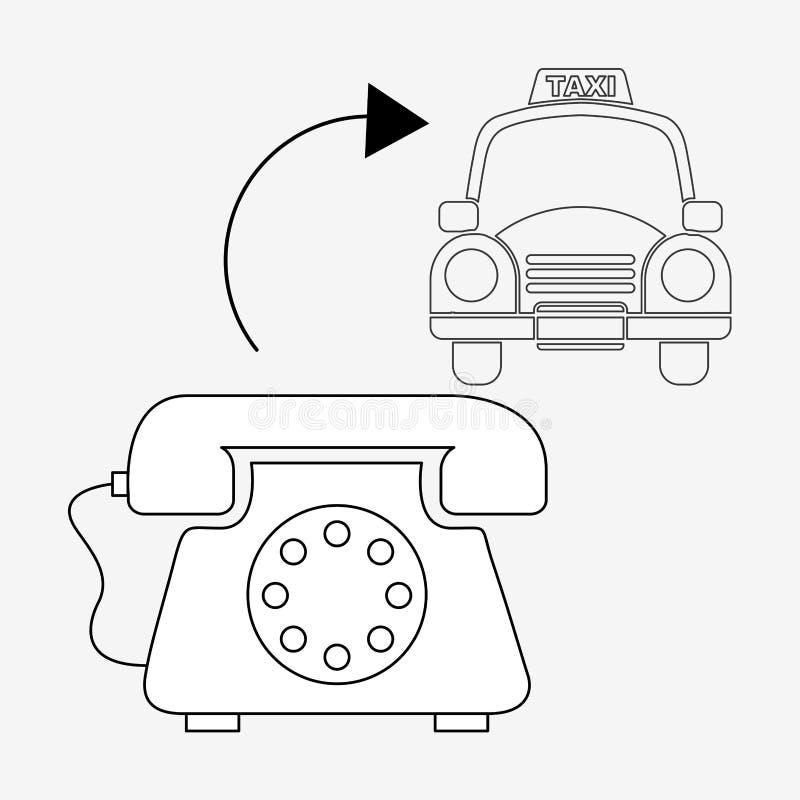 Diseño del servicio del taxi ilustración del vector