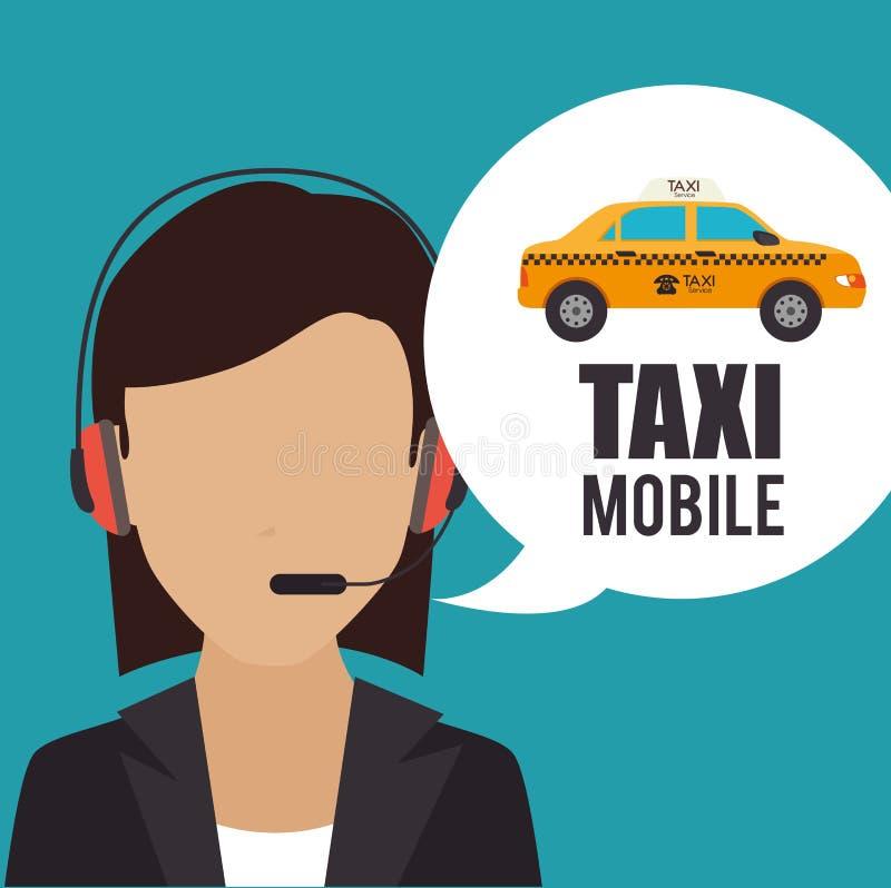 Diseño del servicio del taxi stock de ilustración