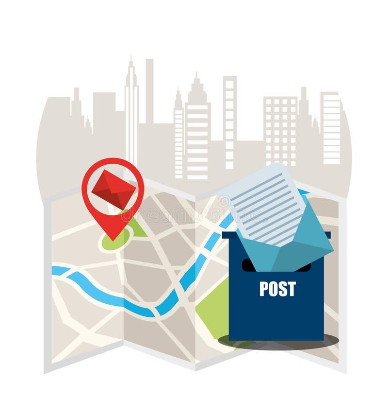 Diseño del servicio postal ilustración del vector