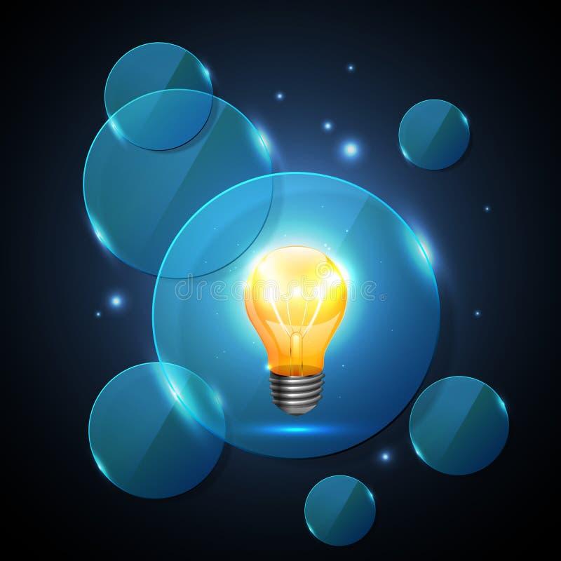 Diseño del sitio web. Fondo de la tecnología stock de ilustración