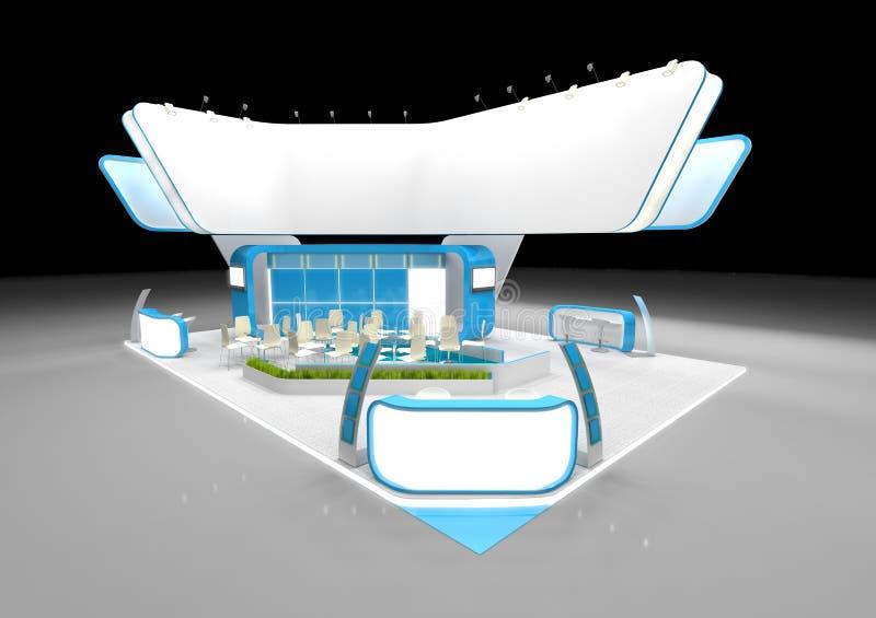 Diseño del soporte de la exposición ilustración del vector