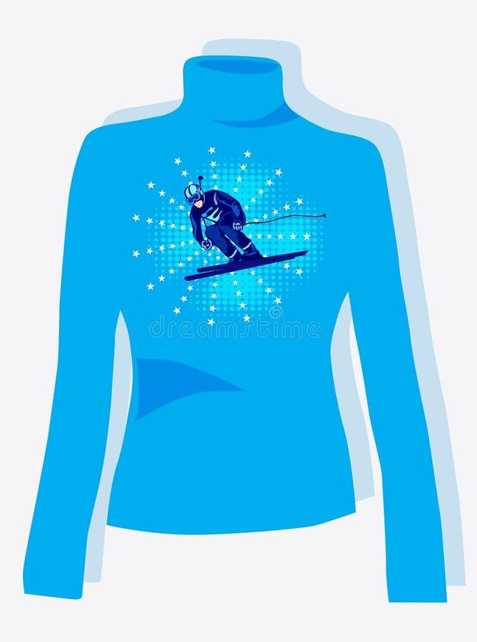 Diseño del suéter ilustración del vector