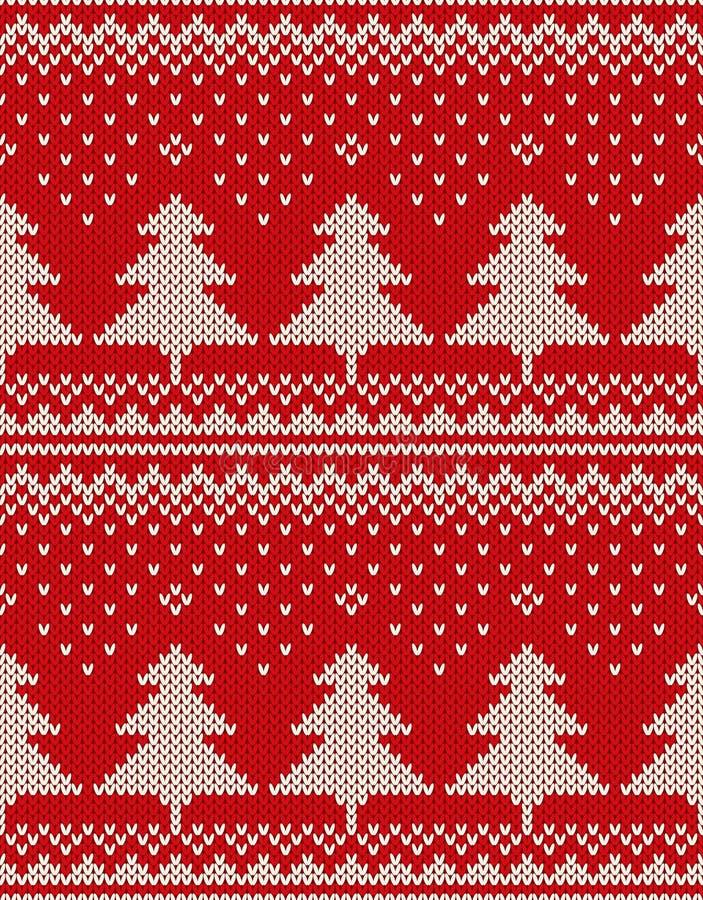 Diseño del suéter de la Navidad Modelo inconsútil con los árboles de navidad libre illustration