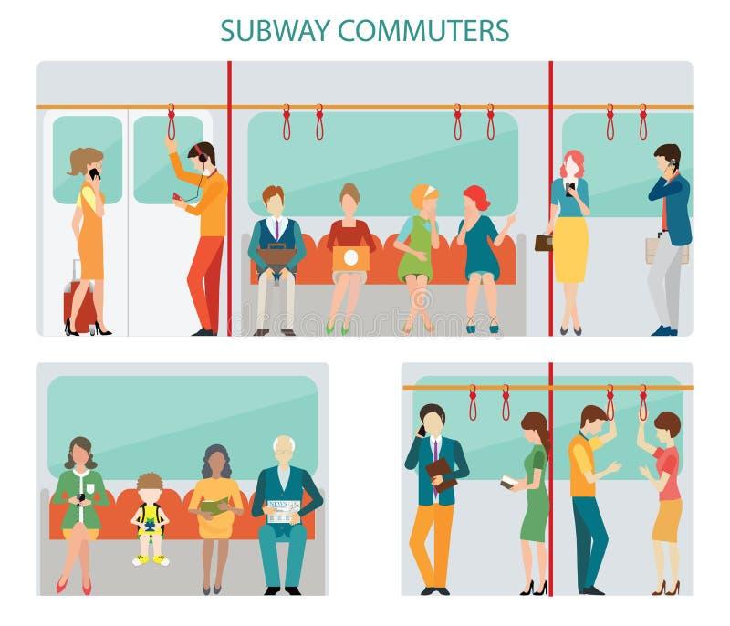 Diseño del subterráneo de los viajeros libre illustration