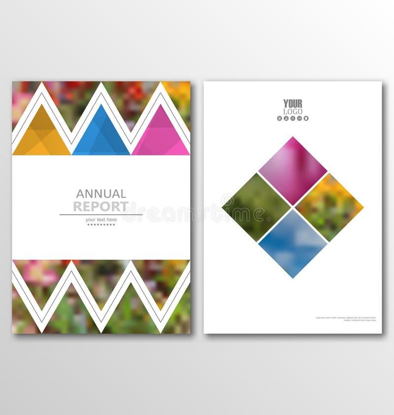 Diseño del tamaño de la plantilla A4 del aviador del folleto del prospecto, diseño del libro de informe anual ilustración del vector