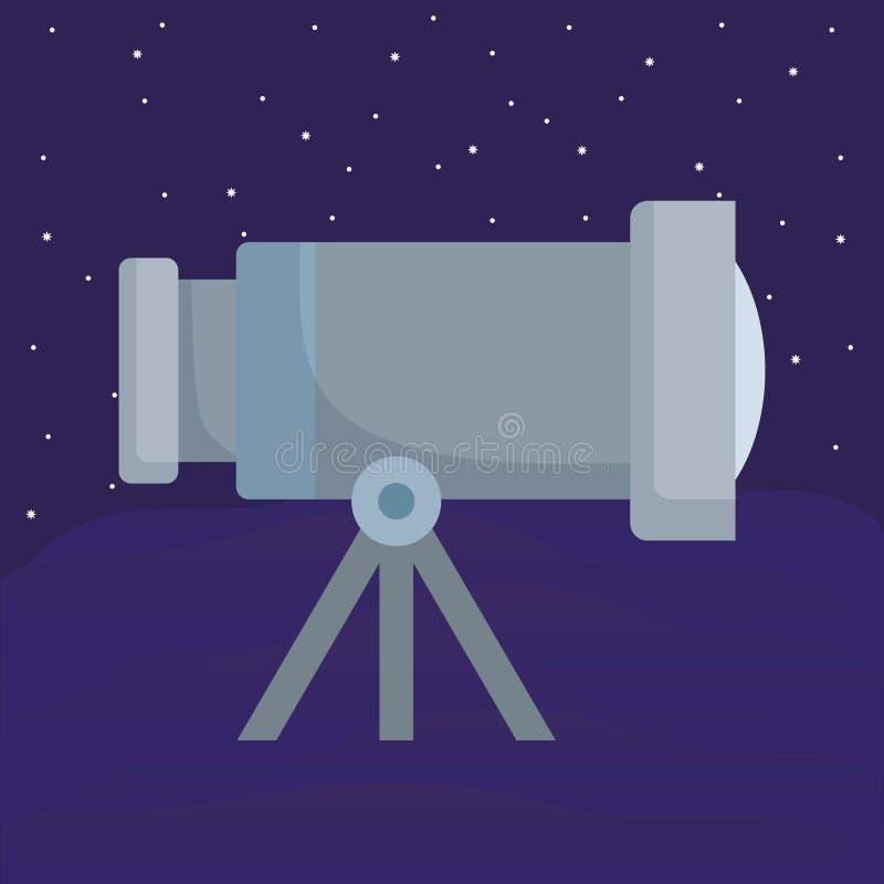 Diseño del telescopio espacial stock de ilustración