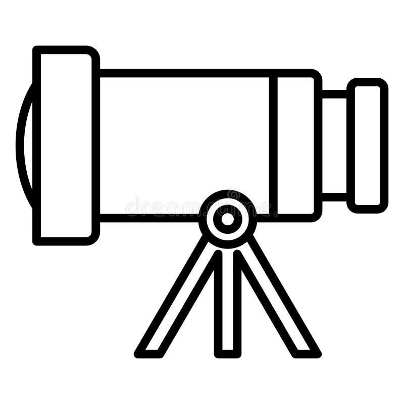 Diseño del telescopio espacial ilustración del vector