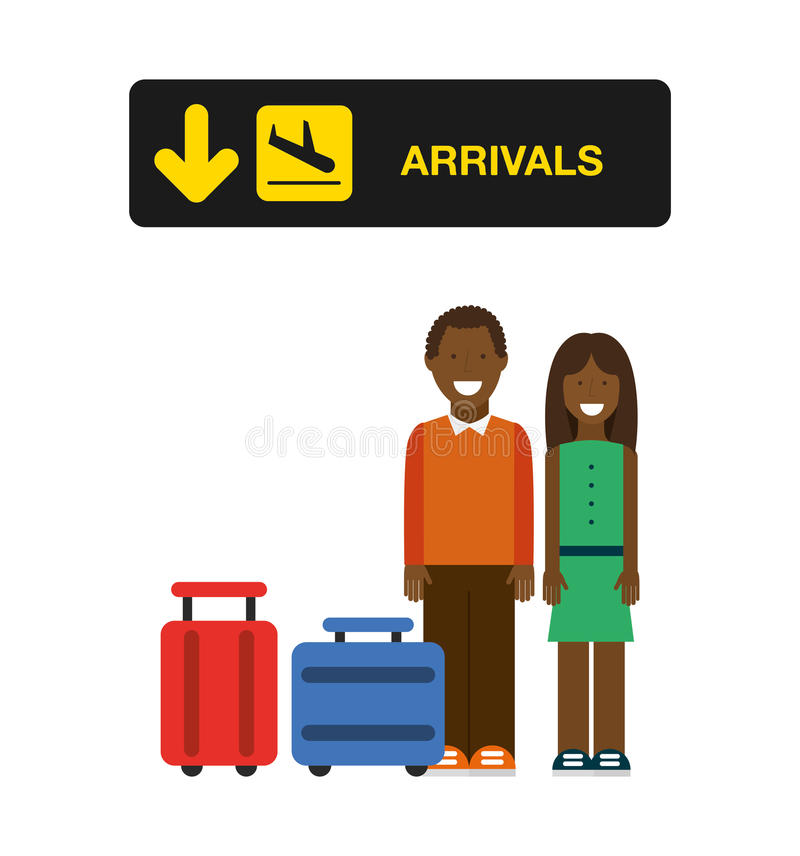 diseño del terminal de aeropuerto stock de ilustración