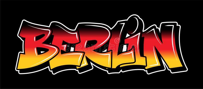 Diseño del texto de las letras del estilo de la pintada libre illustration