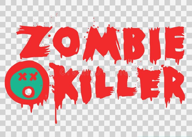 Dise?o del texto de Splat del asesino del zombi libre illustration