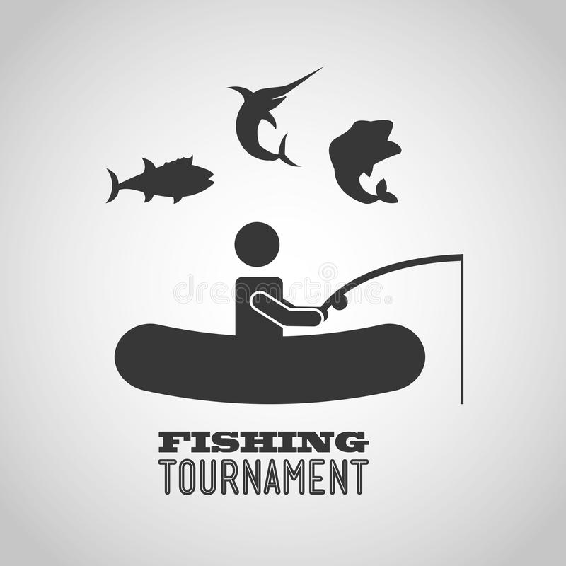diseño del torneo de la pesca stock de ilustración