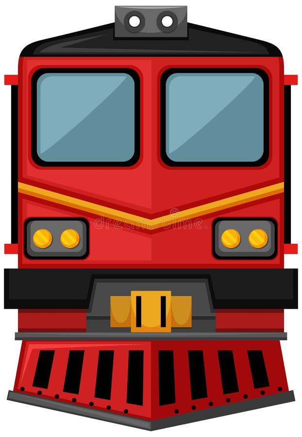Diseño del tren en color rojo ilustración del vector