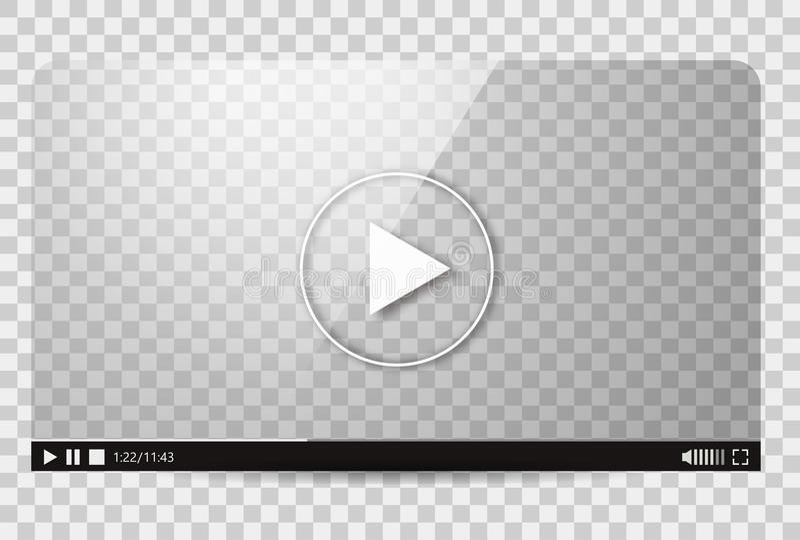 Diseño del vídeo Barra del juego de la película del interfaz medios ilustración del vector