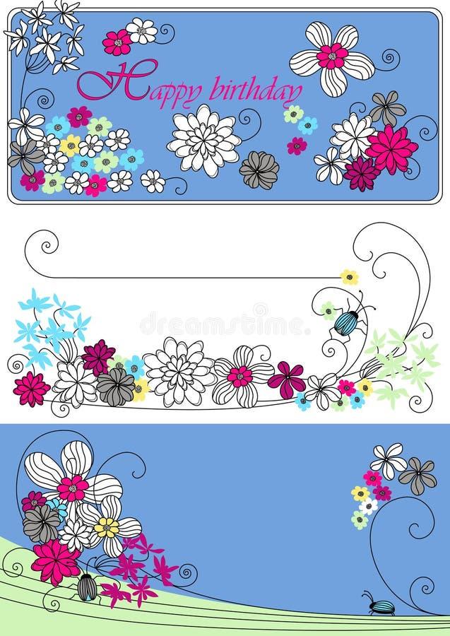 Diseño del vector con las flores libre illustration