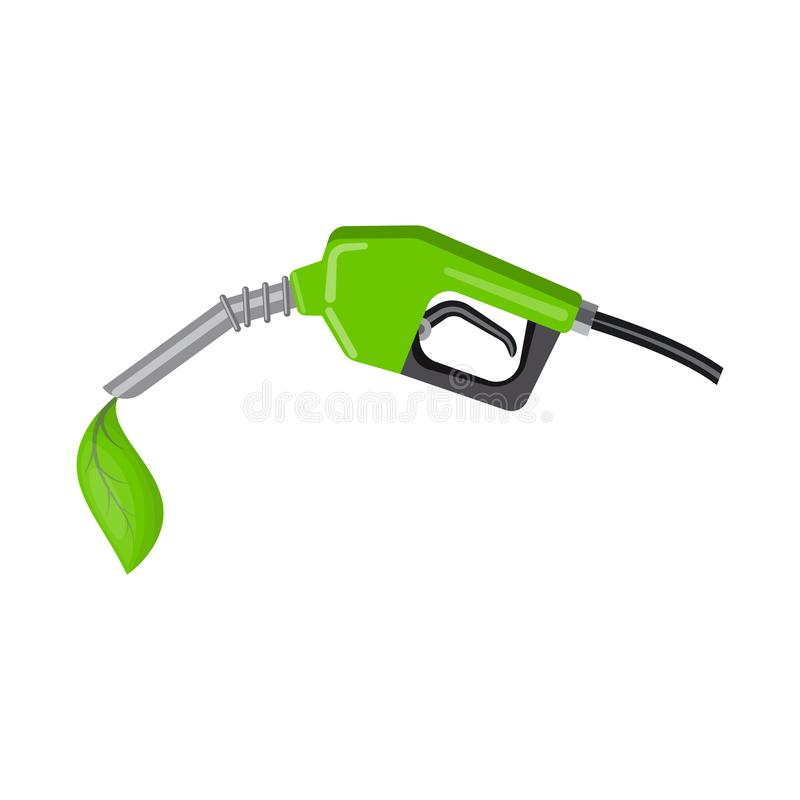 Diseño del vector de combustible y de logotipo verde Colección de icono del vector del combustible y de la estación para la acció stock de ilustración
