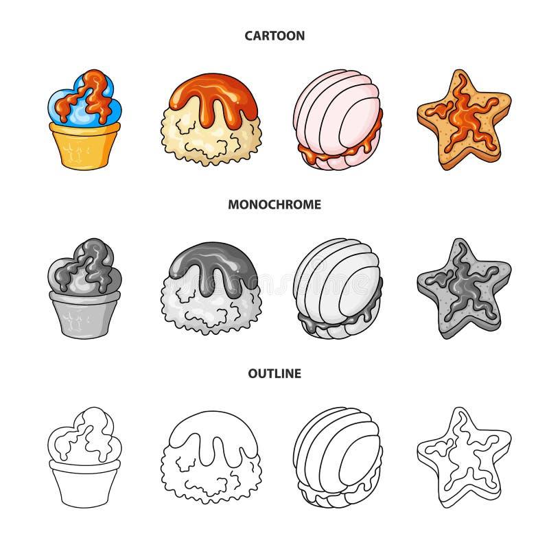 Diseño del vector de confitería y de icono culinario Colección de icono del vector de la confitería y del producto para la acción ilustración del vector