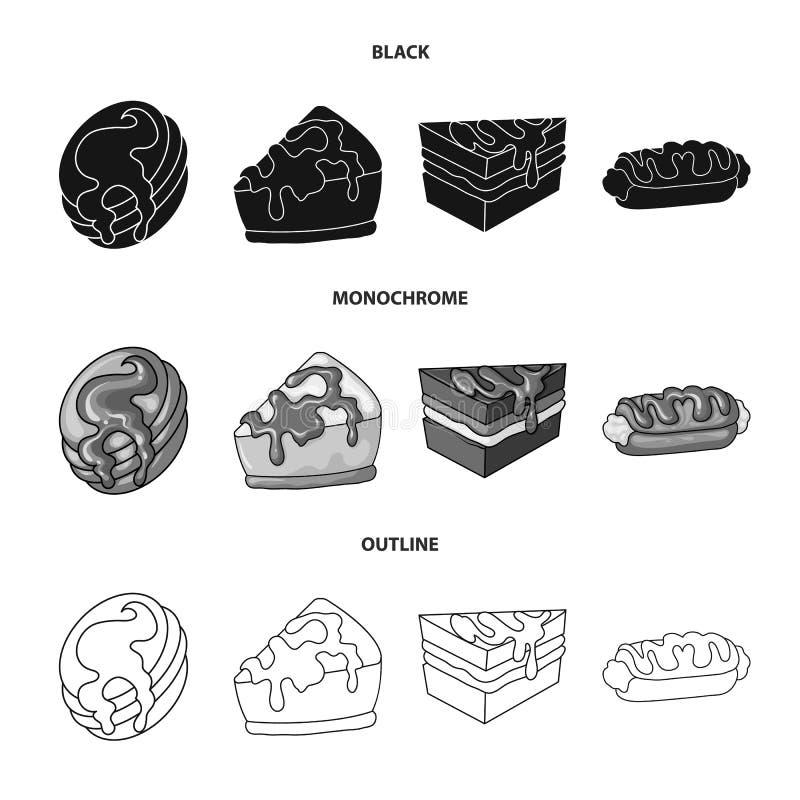Diseño del vector de confitería y de icono culinario Fije del ejemplo del vector de la acción de la confitería y del producto ilustración del vector