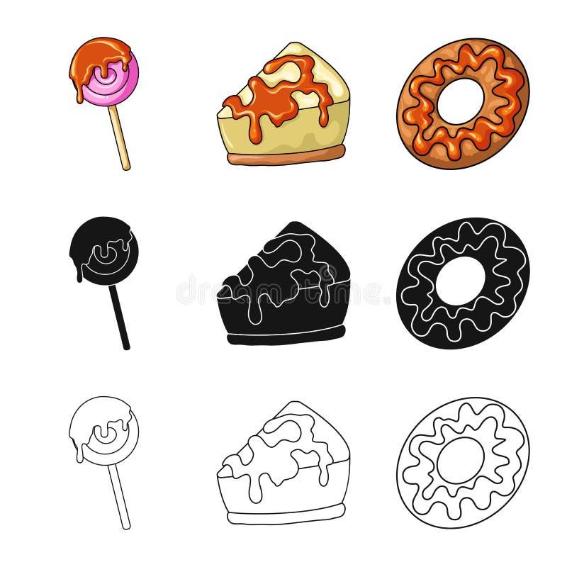 Diseño del vector de confitería y de logotipo culinario Colección de ejemplo del vector de la acción de la confitería y del produ stock de ilustración