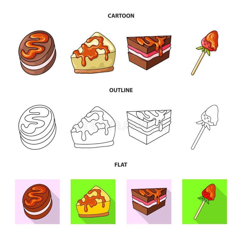 Diseño del vector de confitería y de logotipo culinario Fije del ejemplo del vector de la acción de la confitería y del producto libre illustration