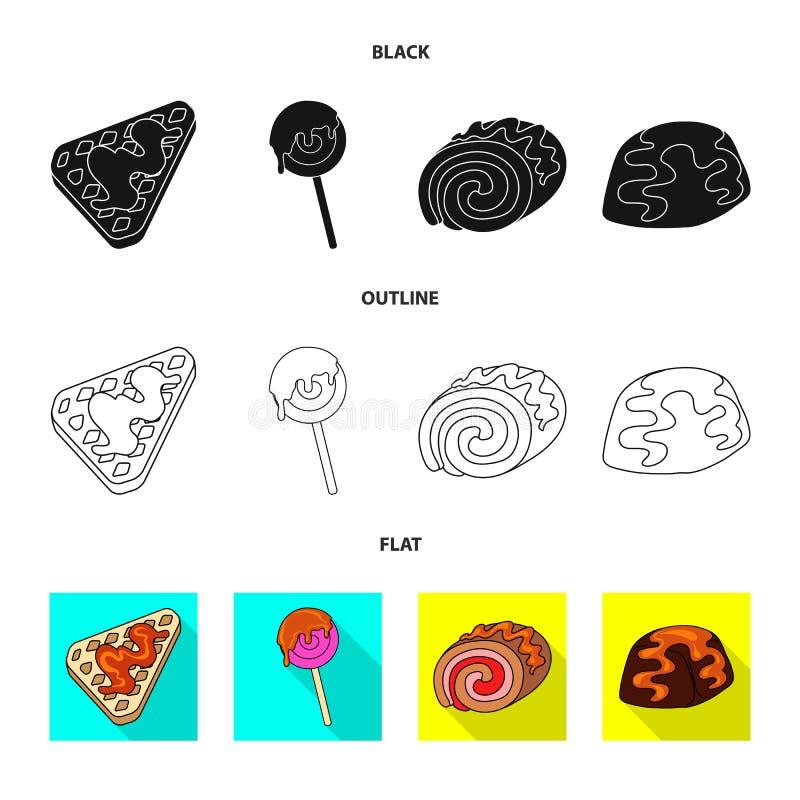 Diseño del vector de confitería y de logotipo culinario Fije del icono del vector de la confitería y del producto para la acción libre illustration
