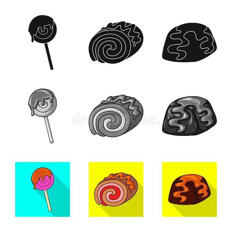 Diseño del vector de confitería y de muestra culinaria Colección de icono del vector de la confitería y del producto para la acci ilustración del vector