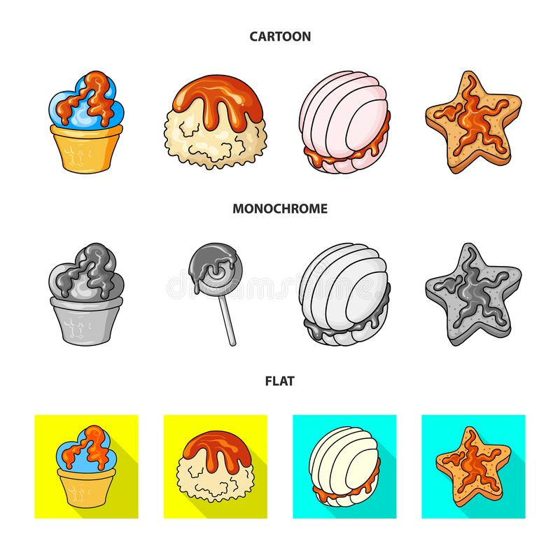 Diseño del vector de confitería y de muestra culinaria Fije del icono del vector de la confitería y del producto para la acción stock de ilustración