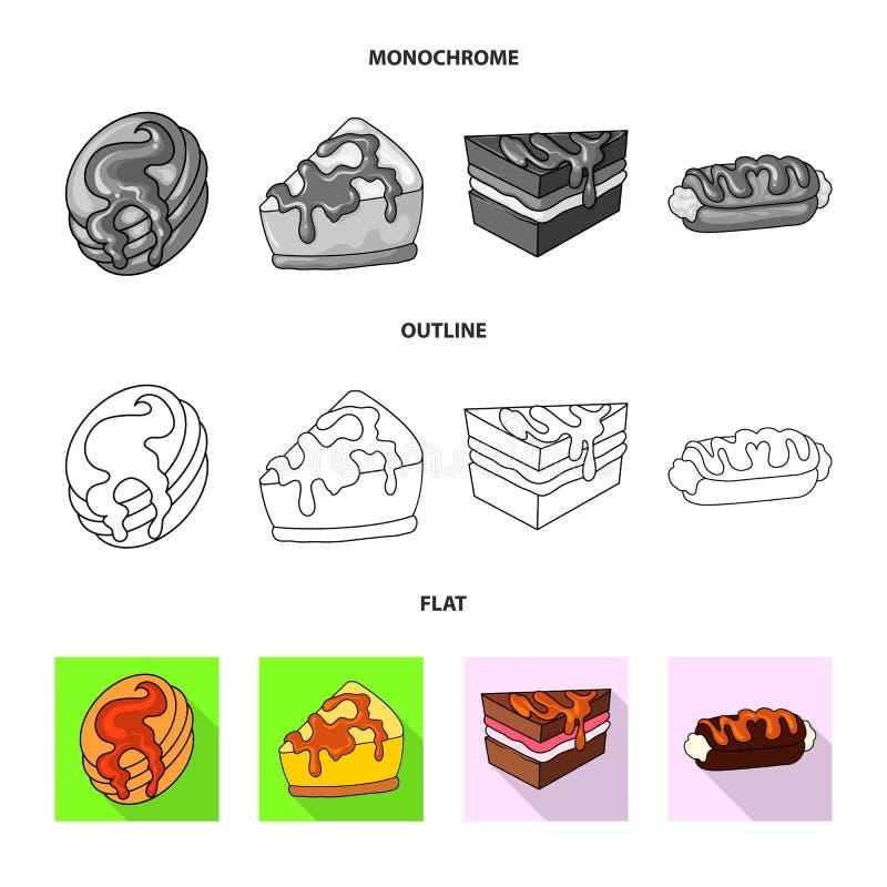 Diseño del vector de confitería y de muestra culinaria Fije del símbolo común de la confitería y del producto para la web libre illustration