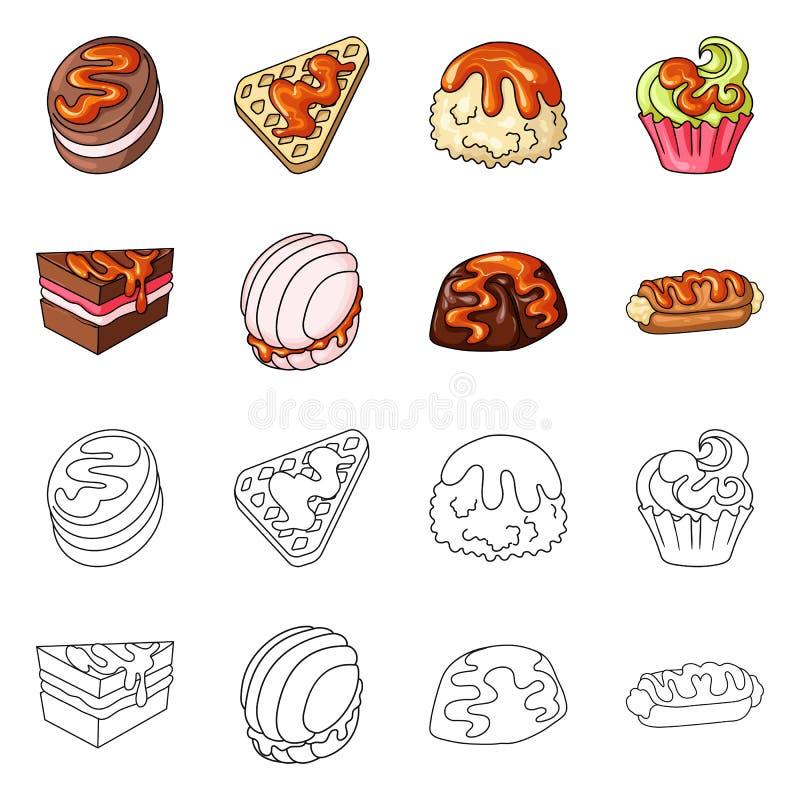 Diseño del vector de confitería y de símbolo culinario Colección de ejemplo del vector de la acción de la confitería y del produc ilustración del vector