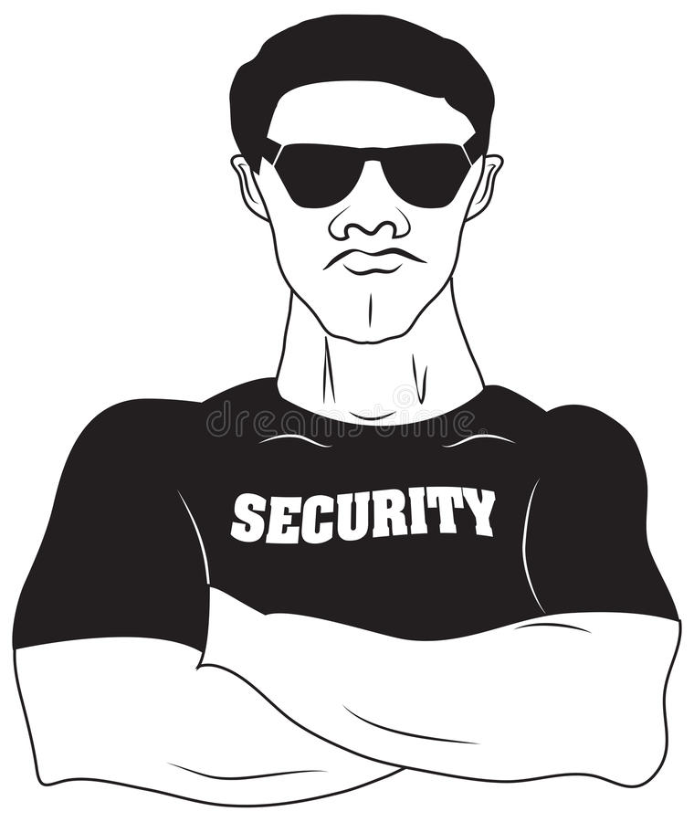 Diseño del vector de guardia de seguridad libre illustration