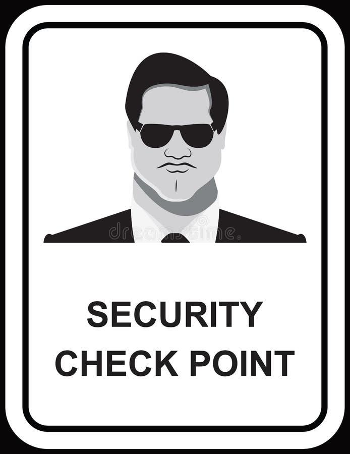 Diseño del vector de hombre del guardia de seguridad stock de ilustración