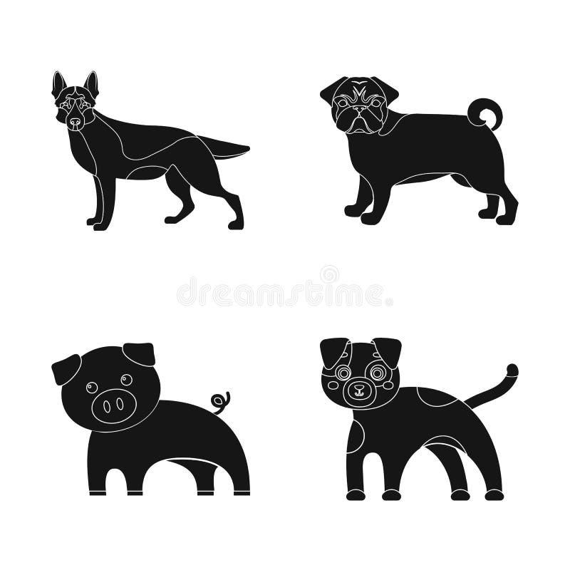 Diseño del vector de icono del animal y del hábitat Colección de ejemplo del vector de la acción del animal y de granja libre illustration