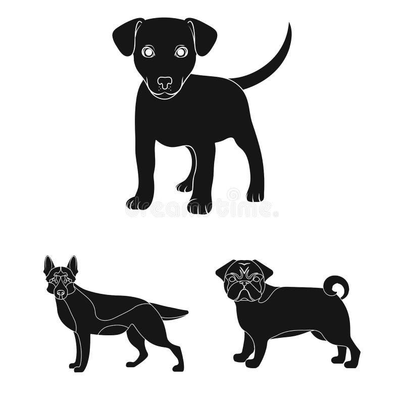 Diseño del vector de icono del animal y del hábitat Colección de icono del vector del animal y de la granja para la acción libre illustration