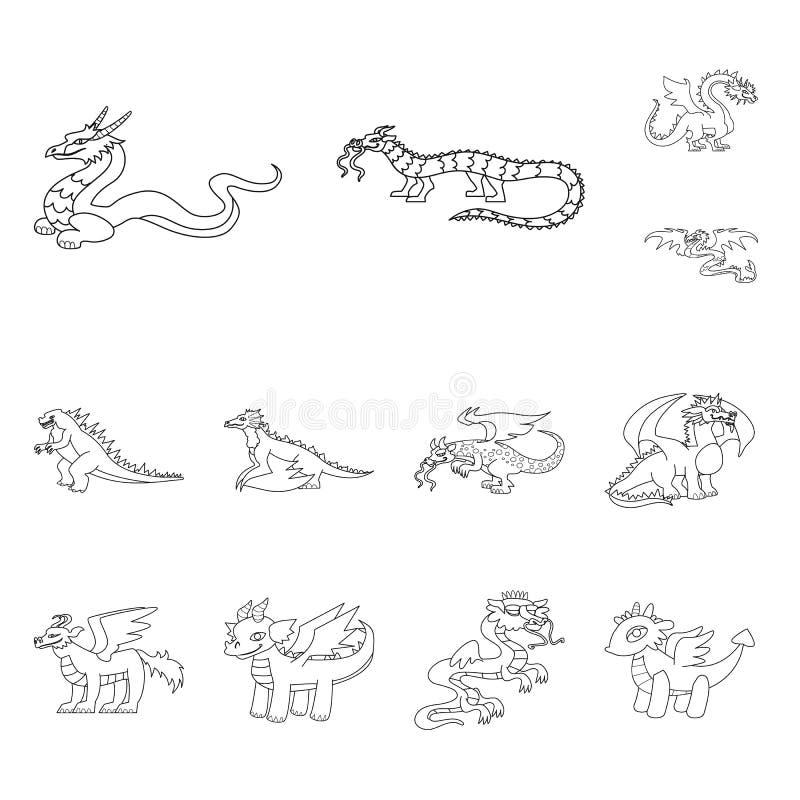 Diseño del vector de icono asiático y medieval Colección de ejemplo común asiático y mítico del vector libre illustration
