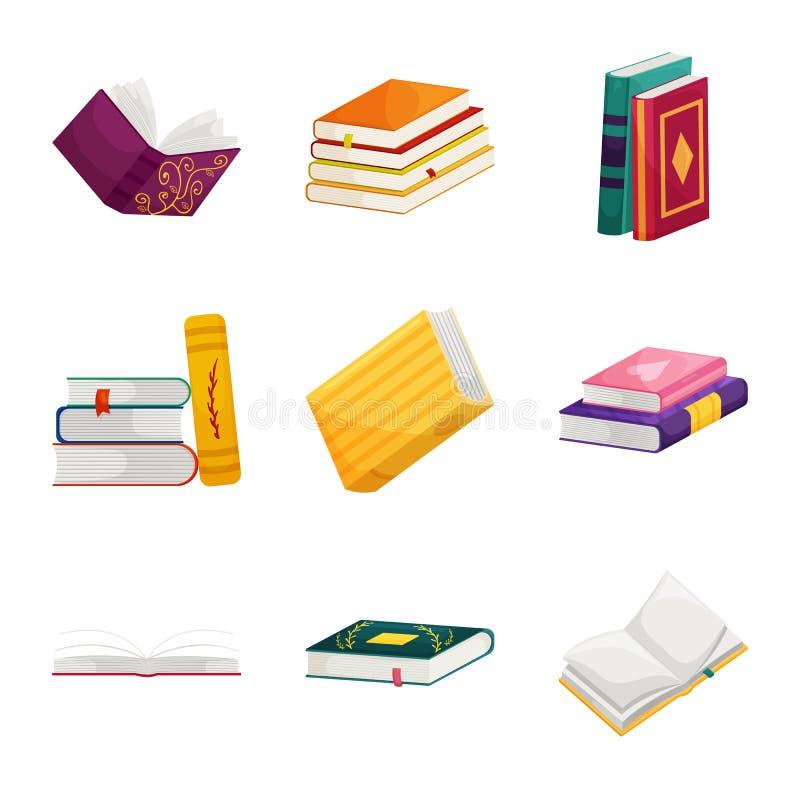 Diseño del vector de icono de la biblioteca y de la librería Fije del ejemplo común del vector de la biblioteca y de la literatur stock de ilustración