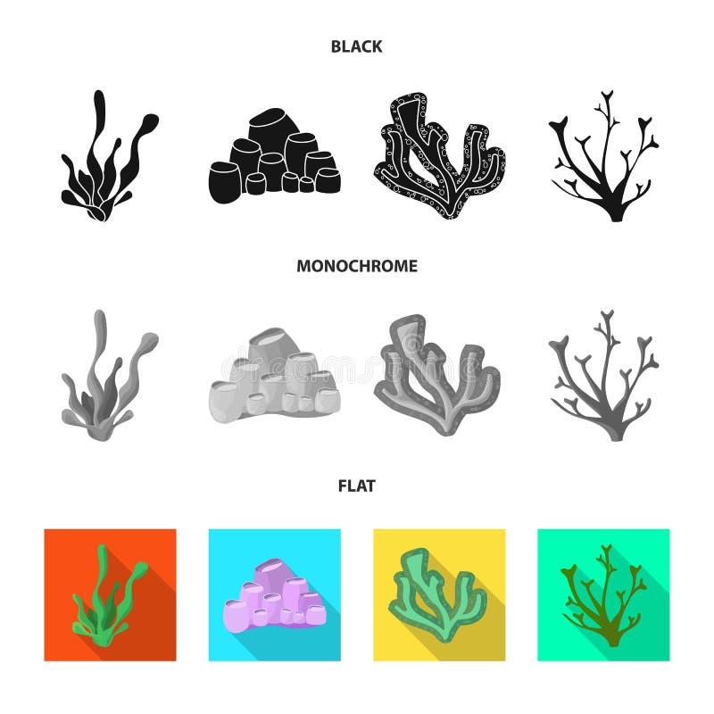 Diseño del vector de icono de la biodiversidad y de la naturaleza Colección de biodiversidad y de ejemplo común del vector de la  stock de ilustración