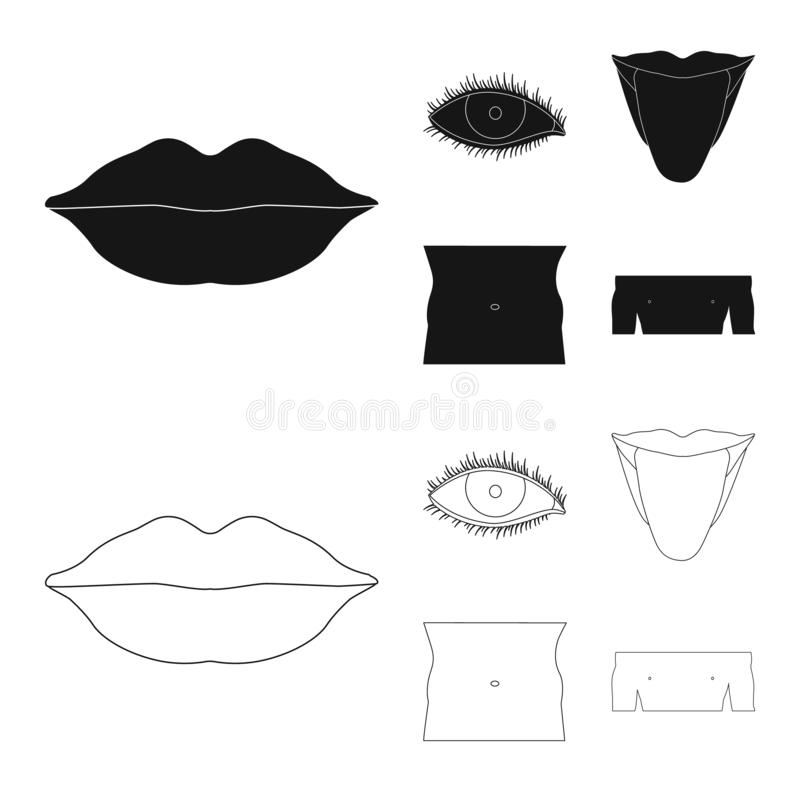 Diseño del vector de icono del ser humano y de la parte Colección de símbolo común del ser humano y de la mujer para el web libre illustration