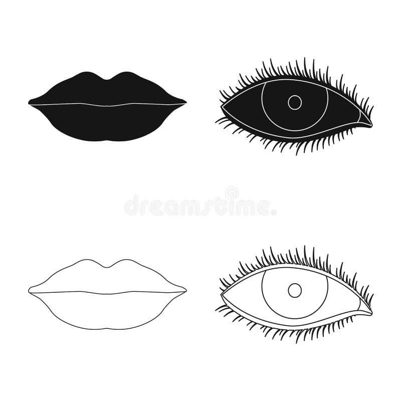 Diseño del vector de icono del ser humano y de la parte Sistema del ejemplo común del vector del ser humano y de la mujer libre illustration