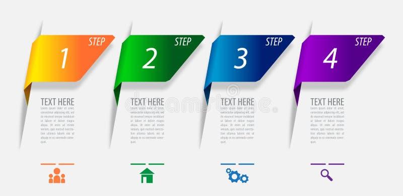 Diseño del vector de Infographics para comercializar o financiero stock de ilustración