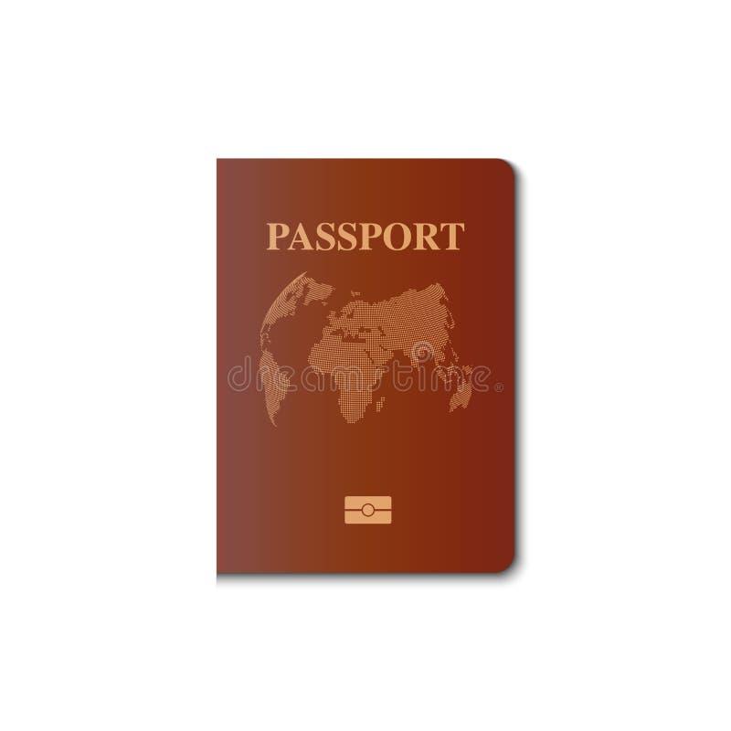 Diseño del vector de la cubierta del pasaporte, ciudadano de la identificación, vector, IL ilustración del vector