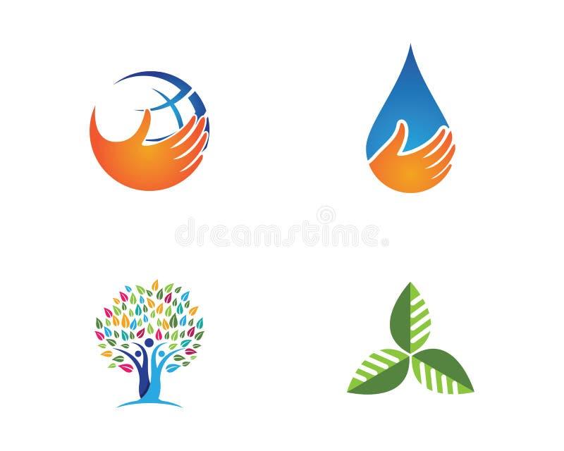 Diseño del vector de la hoja del árbol, concepto respetuoso del medio ambiente ilustración del vector