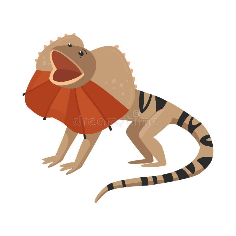 Diseño del vector de lagarto y de símbolo mágico Fije de lagarto y del símbolo común brillante para la web ilustración del vector