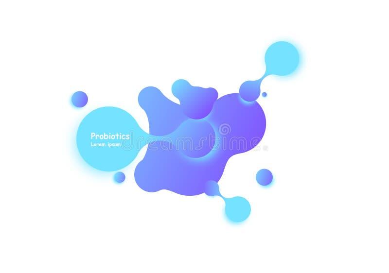 Diseño del vector de las bacterias de Probiotics Diseño del vector de las bacterias de Probiotics Concepto de diseño con el lacto ilustración del vector