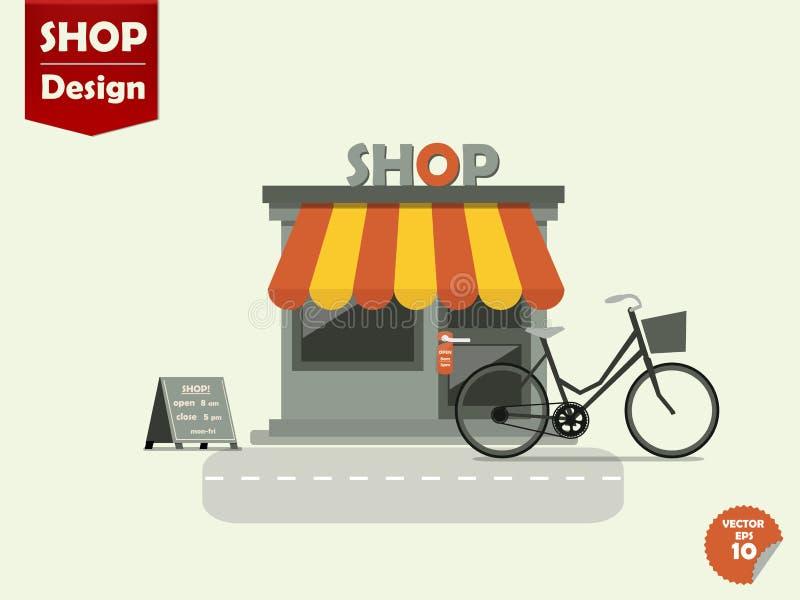 Diseño del vector de las tiendas de las tiendas stock de ilustración